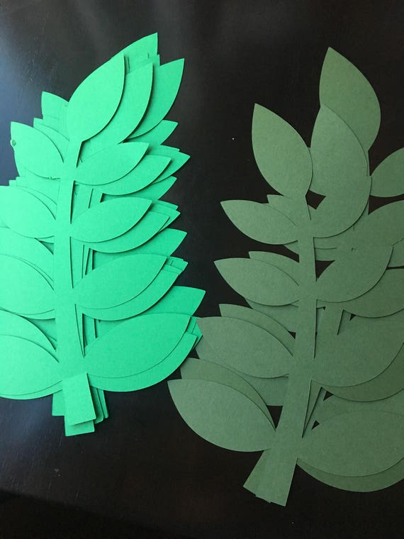 11 long paper leaves for your diy paper flowers