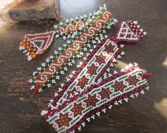 Vintage Beaded Afgani Ties- Set of 2