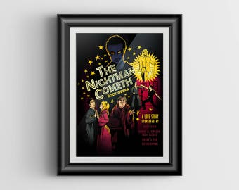 The Nightman Cometh - It's Always Sunny in Philadelphia artwork - signed mini print - 4x6