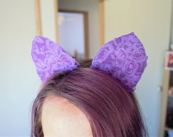 Purple Lace Cat Ears