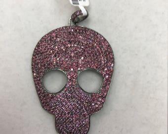 Pink Garnet Skull