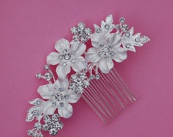 Bridal Comb Crystal Hair Piece Hairpiece Accessories Accessory Wedding Jewelry Prom Weddings Party Clip Gift Blusher Birdcage Bride Veils