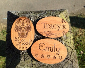 Custom Wood Name Tags
