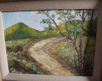 Original Oil Paint Landscape Signed piece