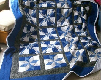 King Size Multi-Star Quilt