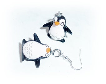 Earrings Penguin