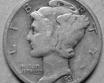 1931 P Mercury Dime Silver  #2683, Hard to Find Coin