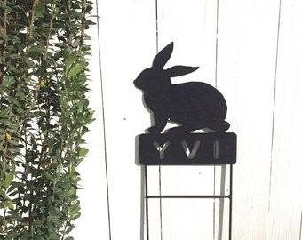 Rabbit Memorials,Bunny Pet Memorials,Pet Memorial,Rabbit Memorial,Metal Rabbit Signs,Metal Pet Memorials, Rabbit Grave Marker, Rabbit Signs