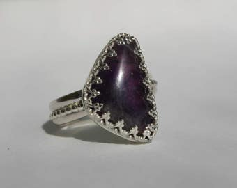 Sterling Silver Amethyst Ring, Amethyst Ring, Protection Ring, Amethyst Sterling Silver Ring