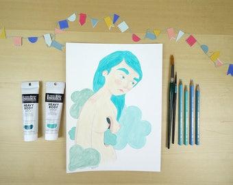 Blue - ilustración print