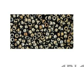 BROWN IRIS (83): 11/o Toho Japanese Seed Beads (10 grams)