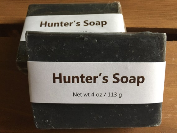 Dirt Scented Activated Charcoal Cold Process Soap for Hunters