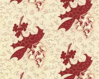 Moda Collections Warmth Red Cream Floral Civil War Reproduction Fabric BTY