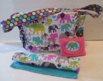 Baby Doll Diaper Bag with Changing Pad and Wipes
