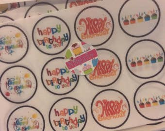 12 HAPPY BIRTHDAY chocolate covered OREO cookies, two tone chocolate, see all pics. Designer cookies