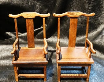 Miniature Chinese Chairs Vintage
