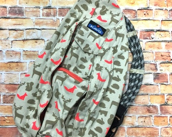 Monogrammed Kavu Rope Bags - OUT FOXED -  Great for teens, women, girls of all ages.  Great  for Birthdays, Anniversaries, etc