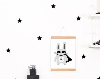 Wall decals / wall sticker 42 star black