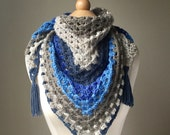 Crochet Triangle Scarf, G...