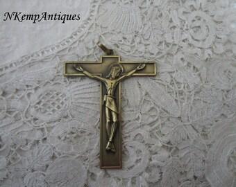 French metal crucifix