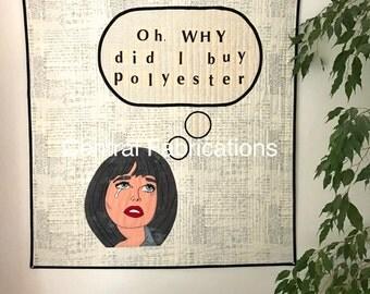Modern Art Quilt, Quilted Wall Hanging, Pop Art