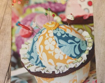 Portabello Pixie Cupcake Pincushion Paper Sewing Pattern New Uncut