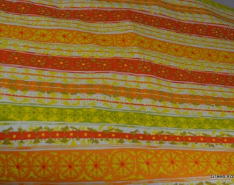 Summer Fun Stripes in Citrus Vintage Cotton Fabric