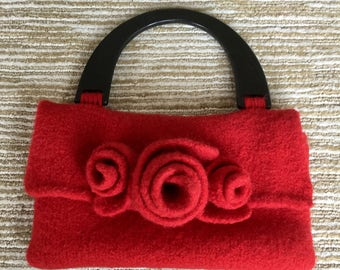 Reserved for Carter 3 Vintage felted handbag