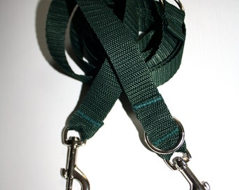 Dog leash adjustable dark green leash for dogs
