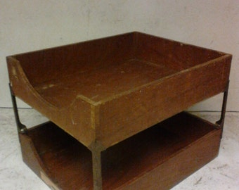 Two tier paper holder tray