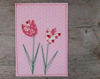 Postcard sheathed - tulips