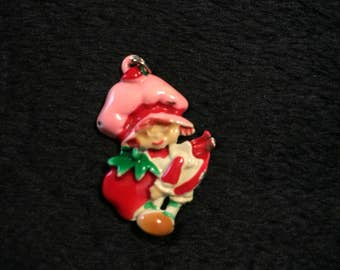 1980's Strawberry Shortcake necklace charm