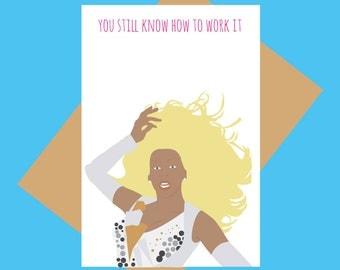 Rupaul - Work it - funny greeting card
