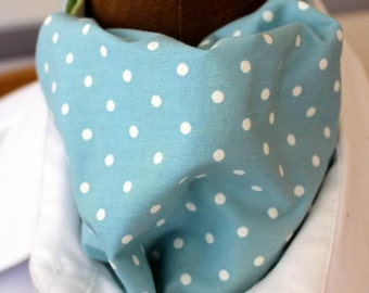 Tie scarf, Ascot, mint-ivory, dots
