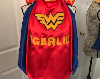 Wonder Woman cape & crown