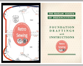 Haslam System of Dresscutting - Measurement Charts  with Foundation -  PDF Instant Download