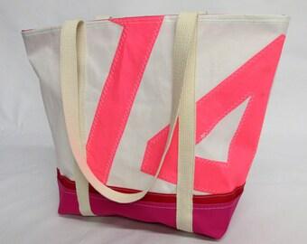 Recycled sail bag, sailcloth, recycled sails, tote bag, nautical bag, VAL004