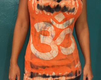 Batik long tops sleeveless, tunic top, mini dress, beach dress, long shirt