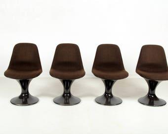 Four chairs, Orbit, Farner, Grunder, Hermann Miller, Vitra, Deutschland, vintage
