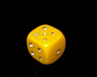 Old Butterscotch Bakelite Big Dice Souvenir