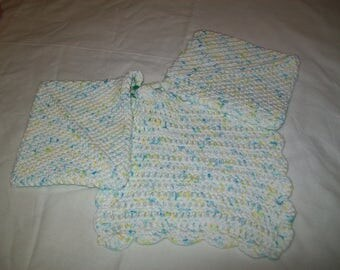 Crocheted pot holders and dish cloth