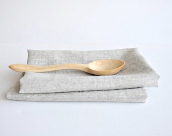 Linen tea towels- set of light linen kitchen towels- softened dish cloths- hand towels- kitchen linens- dishcloths