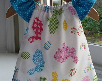 Cotton Waldorf Doll Dress Fits 12 Inch Doll-Spring Bunnies