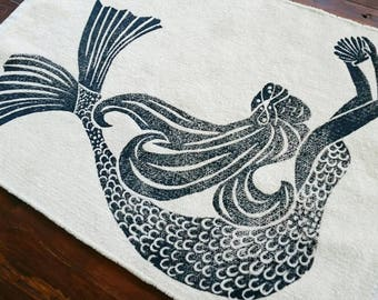 bath rug, bath mat MERMAID cotton chenille rug