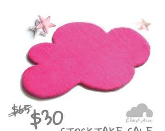 Cloud Rug, HOT PINK Felt Rug <Sales> Nursery Rug, Grey Rug, Felted Rug, Kids Room Rug, Children decor, kids decor