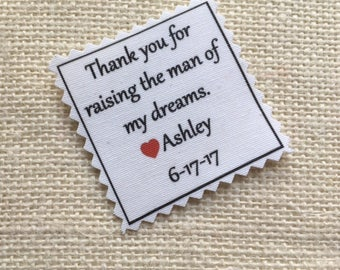"""SKINNY TIE PATCH - Choose Message & Font - Little Heart Accent -  Iron On - Sew On - 2"""" x 2"""" - Printed Tie Patch, Father of Bride or Groom"""