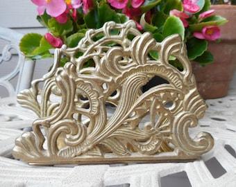 Vintage Brass Art Nouveau Letter/Napkin Holder