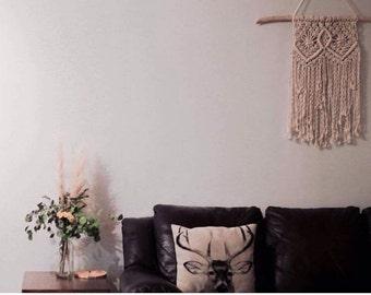 Macrame wall hanging, shabby chic decor, boho decor, hippie decor, wall art.