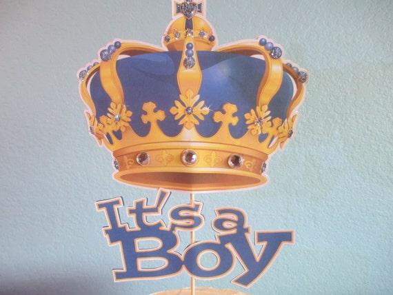 Its A Boy Cake Topper Gold