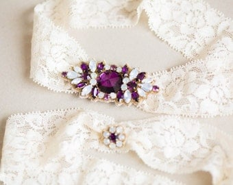 Bridal Garters, Wedding Garters - Style GS01 (Ready to Ship)